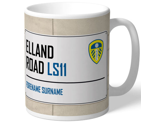 Personalised Leeds Mug - Street Sign - Official Merchandise Gifts