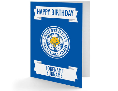Personalised Leicester Birthday Card - Official Merchandise Gifts