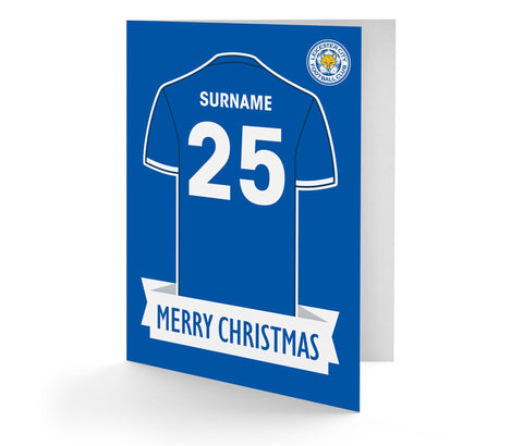 Personalised Leicester Christmas Card - Official Merchandise Gifts