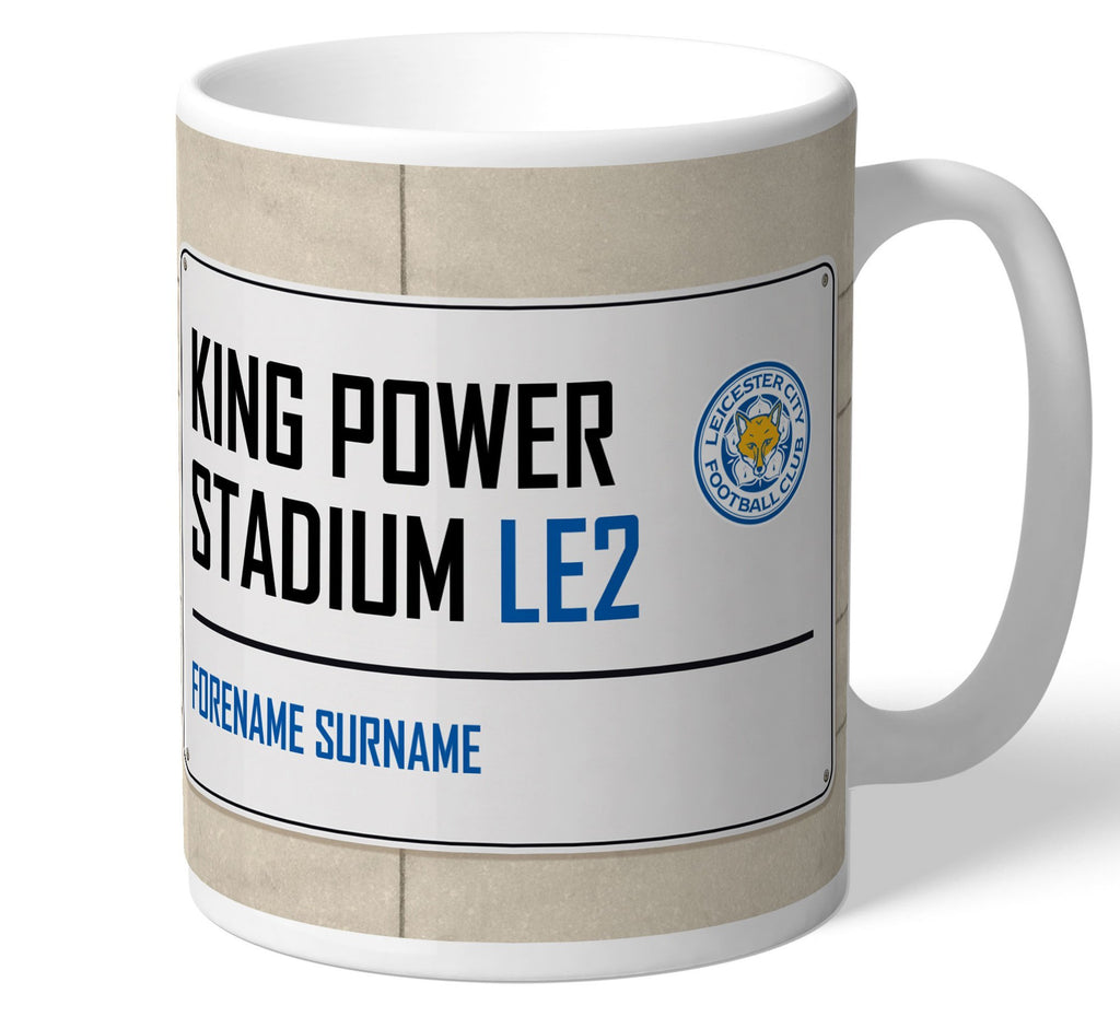 Personalised Leicester City Mug - Street Sign - Official Merchandise Gifts