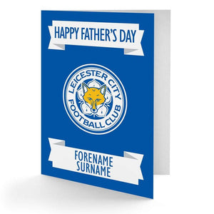 Personalised Leicester Fathers Day Card - Official Merchandise Gifts