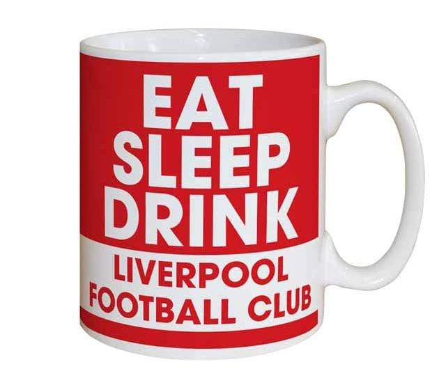 Personalised Liverpool Eat Sleep Drink Mug - Official Merchandise Gifts