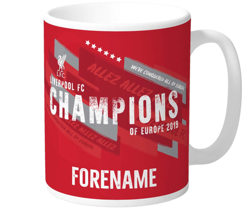 Personalised Liverpool FC Champions of Europe Mug - Official Merchandise Gifts