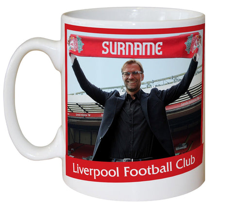 Personalised Liverpool Manager Mug - Official Merchandise Gifts