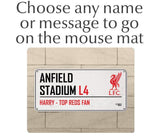 Personalised Liverpool Mouse Mat - Official Merchandise Gifts