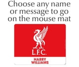 Personalised Liverpool Mouse Mat - Crest - Official Merchandise Gifts