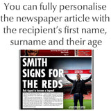 Personalised Liverpool Newspaper - Framed - Official Merchandise Gifts