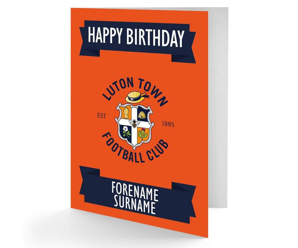 Personalised Luton Birthday Card - Official Merchandise Gifts