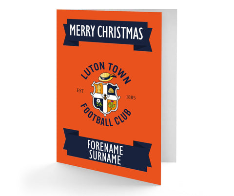 Personalised Luton Christmas Card - Official Merchandise Gifts