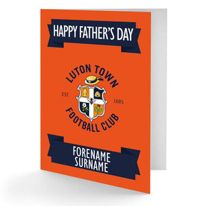Personalised Luton Fathers Day Card - Official Merchandise Gifts