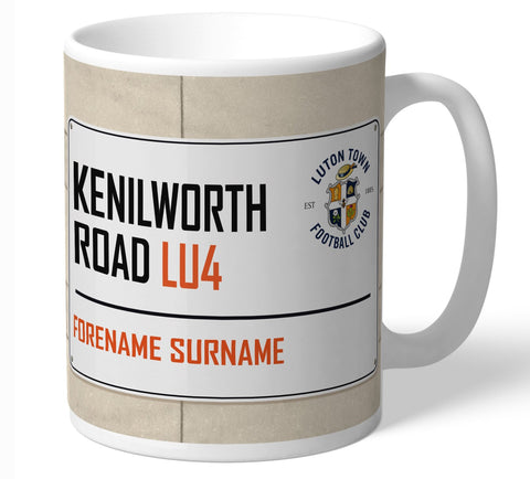 Personalised Luton Mug - Street Sign - Official Merchandise Gifts