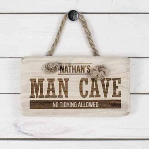 Personalised Man Cave Wooden Sign - Official Merchandise Gifts