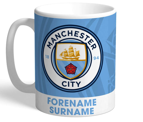 Personalised Man City Crest Mug - Official Merchandise Gifts