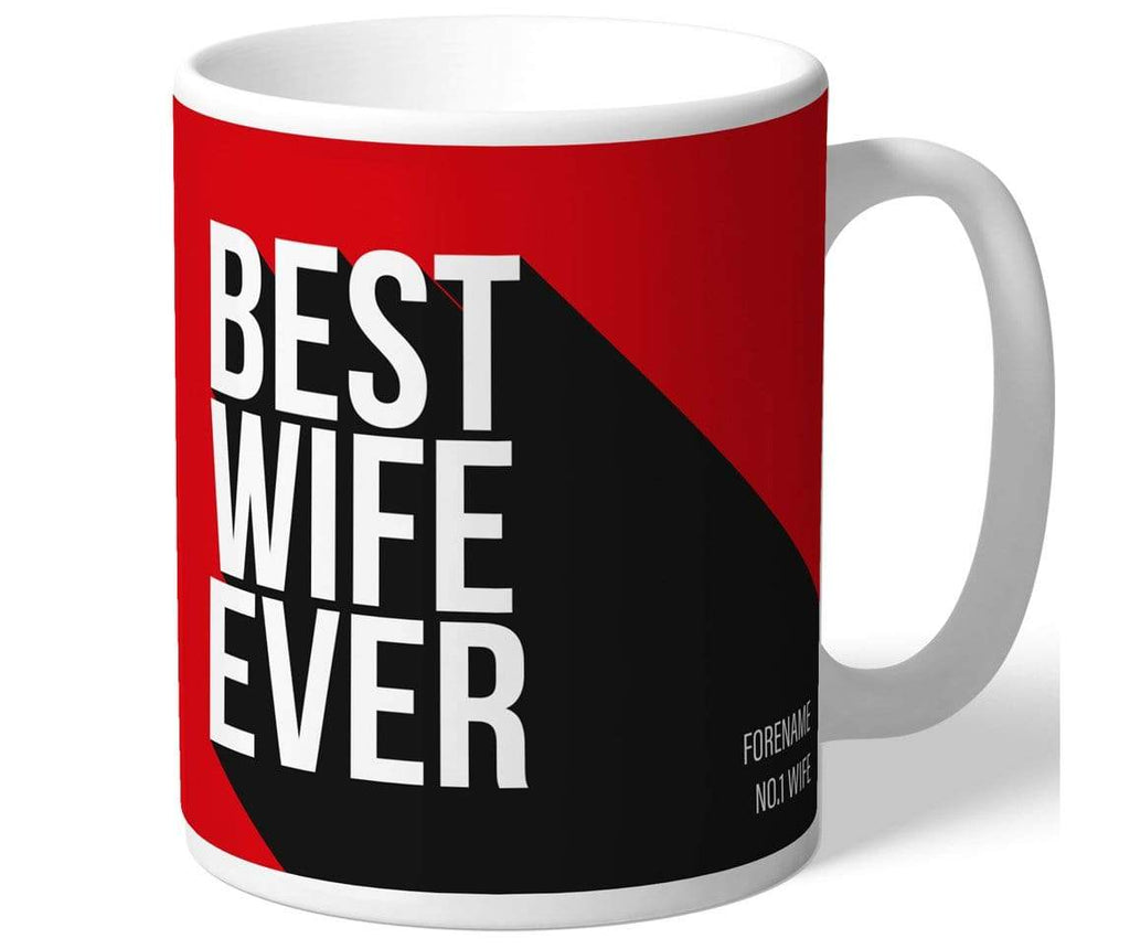 Personalised Man Utd Best Wife Mug - Official Merchandise Gifts