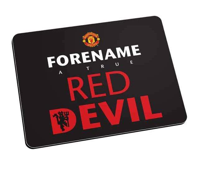 Personalised Man Utd Mouse Mat - Black - Official Merchandise Gifts