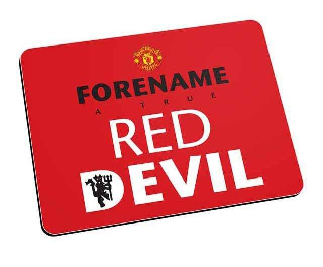 Personalised Man Utd Mouse Mat - Red - Official Merchandise Gifts
