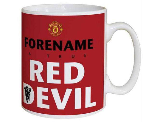 Personalised Man Utd Mug - Red Devil - Official Merchandise Gifts