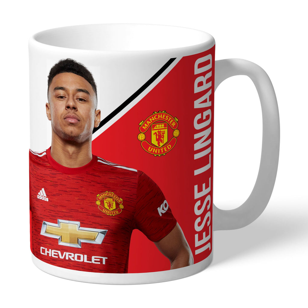 Personalised Manchester United FC Lingard Autograph Mug - Official Merchandise Gifts