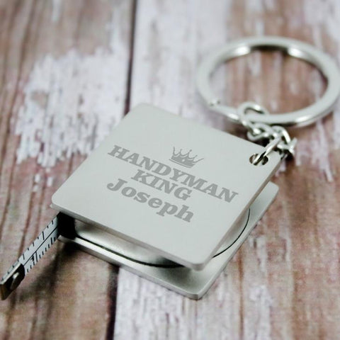 Personalised Measure Keyring - Handyman King - Official Merchandise Gifts
