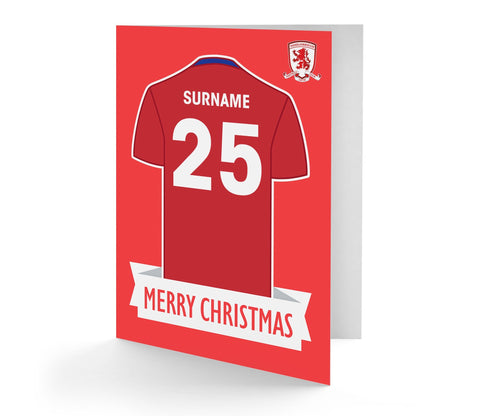 Personalised Middlesbrough Christmas Card - Official Merchandise Gifts