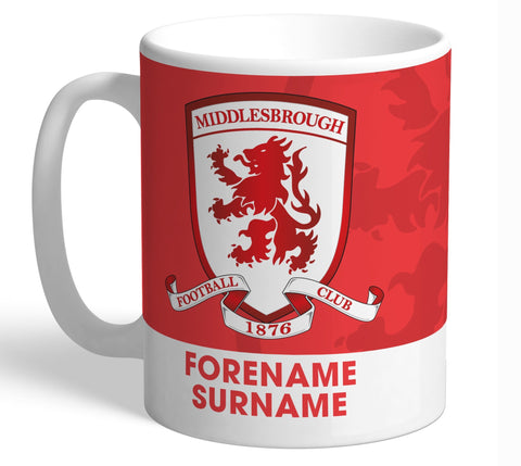 Personalised Middlesbrough Crest Mug - Official Merchandise Gifts