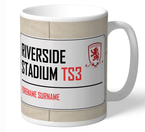 Personalised Middlesbrough Mug - Street Sign - Official Merchandise Gifts