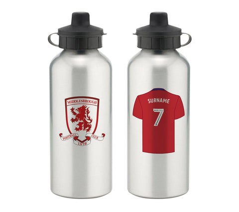 Personalised Middlesbrough Water Bottle - Official Merchandise Gifts