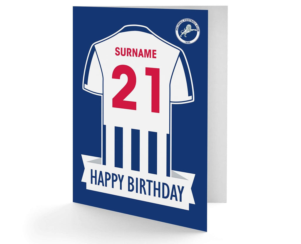 Personalised Millwall Birthday Card - Official Merchandise Gifts