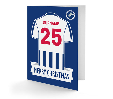 Personalised Millwall Christmas Card - Official Merchandise Gifts