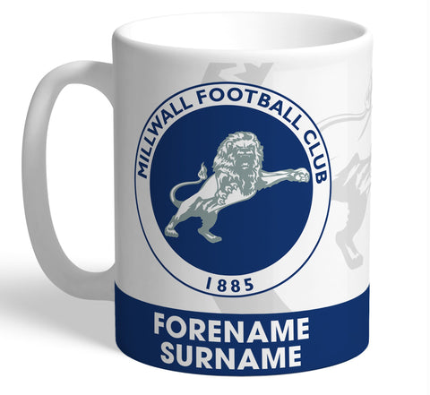 Personalised Millwall Crest Mug - Official Merchandise Gifts