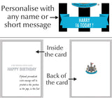Personalised Newcastle Birthday Card - Official Merchandise Gifts