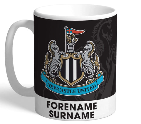 Personalised Newcastle Crest Mug - Official Merchandise Gifts