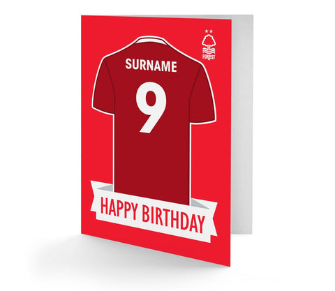 Personalised Nottingham Forest Birthday Card - Official Merchandise Gifts