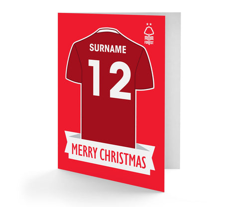 Personalised Nottingham Forest Christmas Card - Official Merchandise Gifts