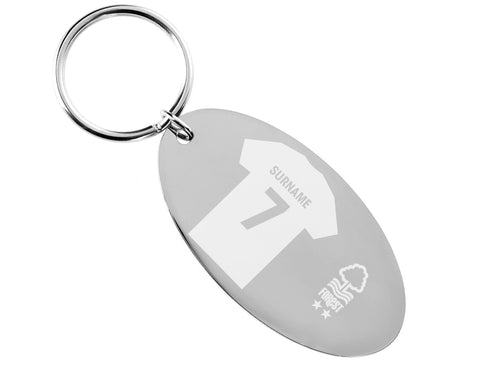 Personalised Nottingham Forest Keyring - Official Merchandise Gifts