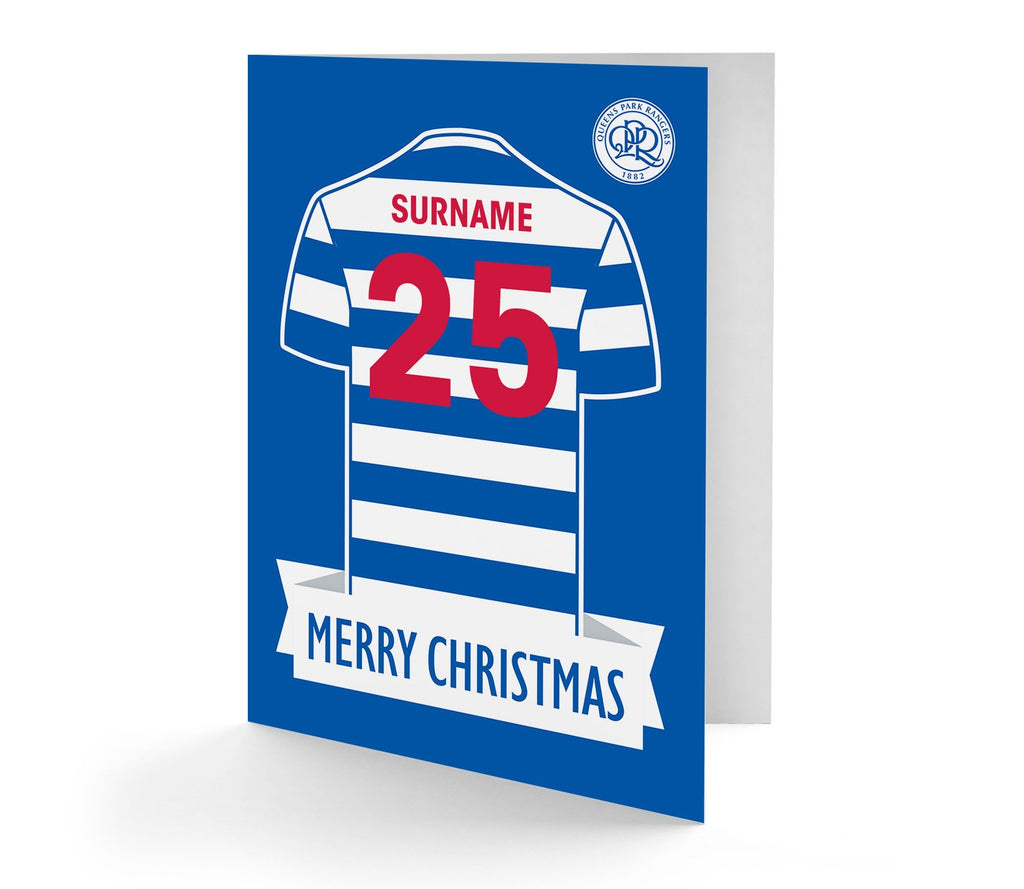 Personalised QPR Christmas Card - Official Merchandise Gifts