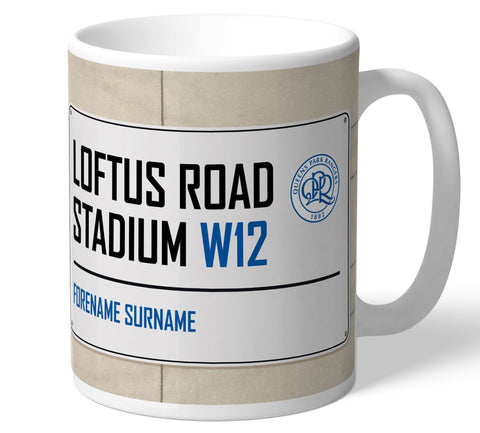 Personalised QPR Mug - Street Sign - Official Merchandise Gifts