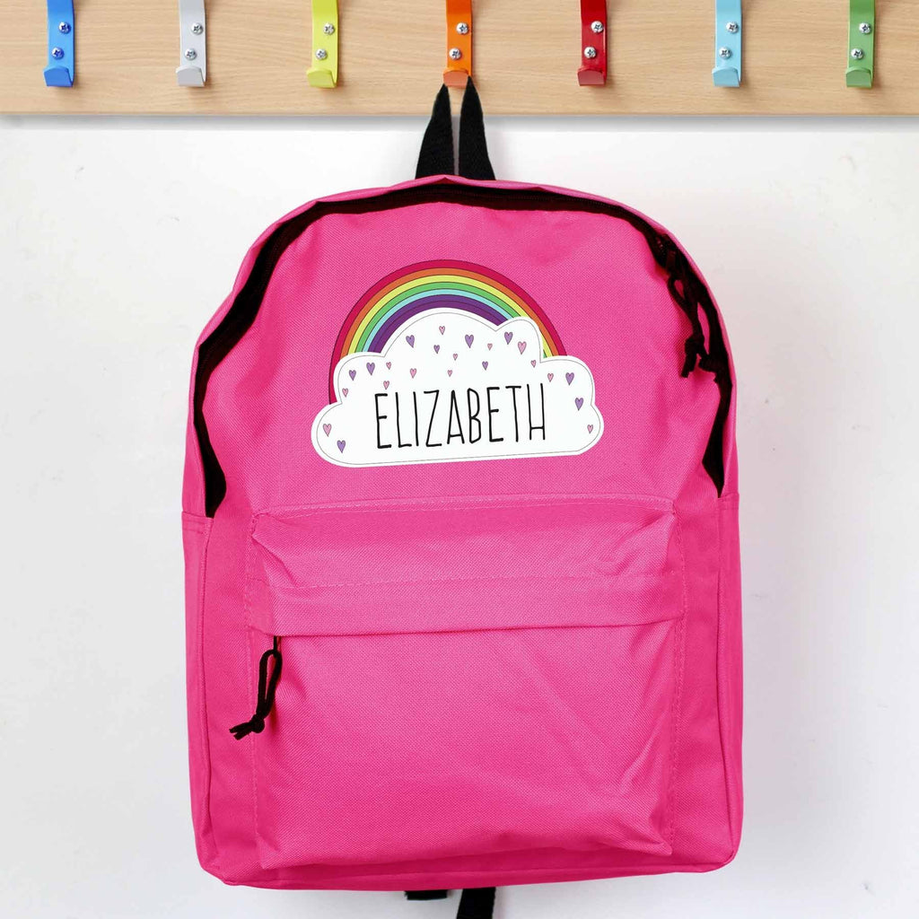 Personalised Rainbow Backpack