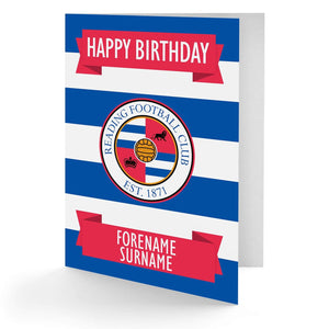 Personalised Reading Birthday Card - Official Merchandise Gifts
