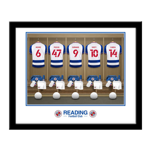 Personalised Reading FC Dressing Room Framed Print - Official Merchandise Gifts