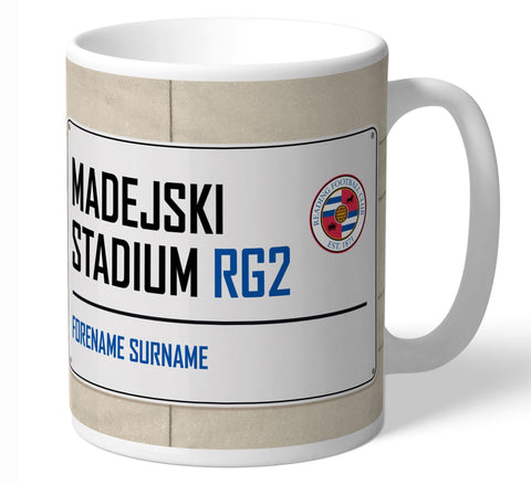 Personalised Reading Mug - Street Sign - Official Merchandise Gifts