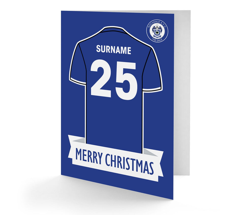 Personalised Rochdale Christmas Card - Official Merchandise Gifts