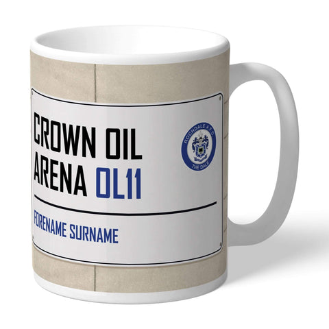 Personalised Rochdale Mug - Street Sign - Official Merchandise Gifts