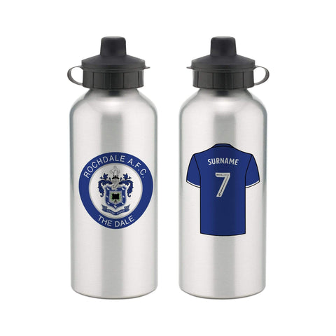 Personalised Rochdale Water Bottle - Official Merchandise Gifts