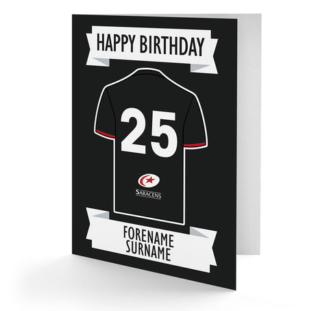 Personalised Saracens Birthday Card - Official Merchandise Gifts