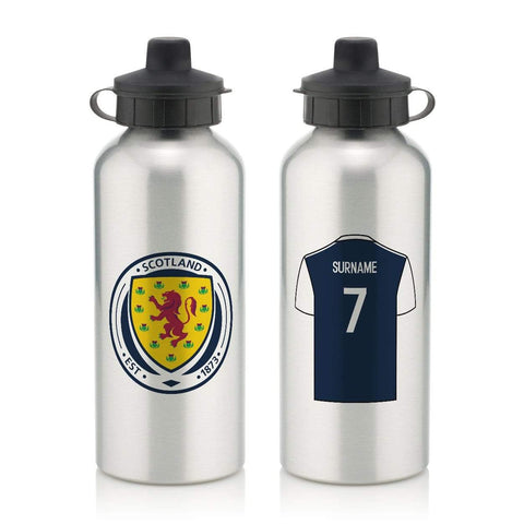 Personalised Scotland Water Bottle - Official Merchandise Gifts