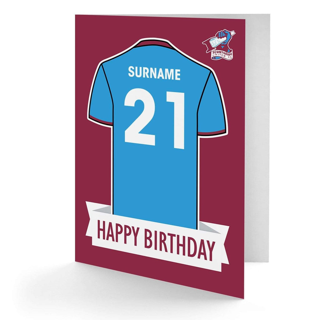 Personalised Scunthorpe Birthday Card - Official Merchandise Gifts