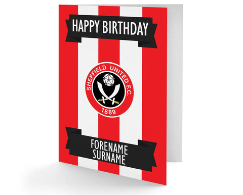 Personalised Sheffield United Birthday Card - Official Merchandise Gifts