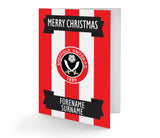 Personalised Sheffield United Christmas Card - Official Merchandise Gifts