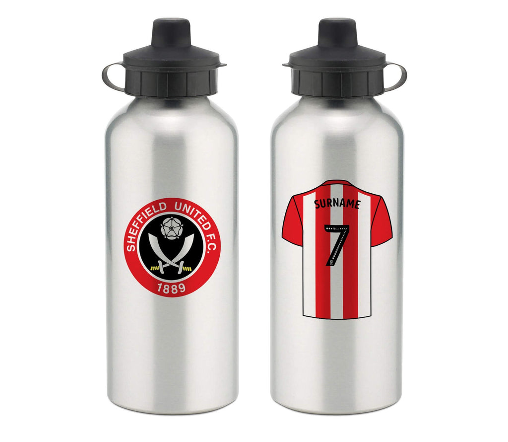 Personalised Sheffield United Water Bottle - Official Merchandise Gifts